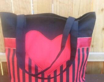 Gothic Tote Bag, Cotton Bag, Lined Tote Bag, Fabric Bag, Gothic Bag, Shoulder Bag