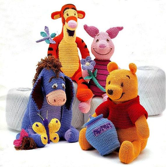 Winnie The Pooh Tigger Piglet Eeyore Crochet Patterns