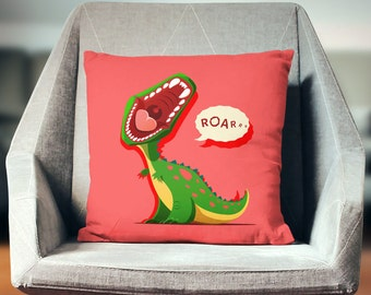 Dinosaur Decor | Dinosaur Pillow | T Rex Gift | Dinosaur Pillow Case | Dinosaur Throw Pillow | Dinosaur Pillow Cover | Dinosaur Cushion