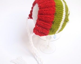 CHRISTMAS, Baby Girl/Boy Hat, Newborn Christmas Hat, Baby Christmas Bonnet, Baby Photo Prop Hat, Ready  for Ship