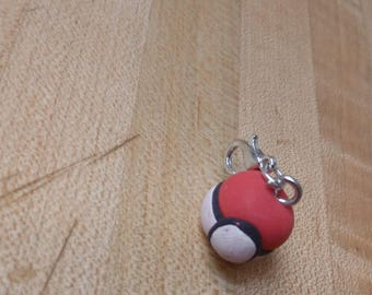 Pokeball Clay Charms