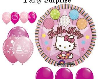 Hello Kitty balloons Hello Kitty Party Balloon Package Pink Berry Girl Party Hello Kitty foil latex balloons