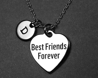Best Friends Forever Necklace, bff necklace, Best Friends Necklace, Personalized Gift, Best Friends Gift, Best Friends, initial necklace