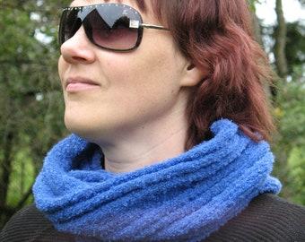 Blue Cornflower Infinity Scarf Cowl Wrap