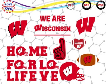 Wisconsin Badgers SVG PNG DXF