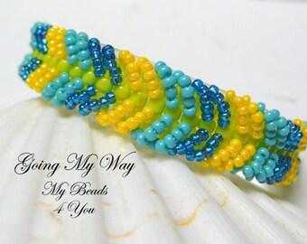 Beadwoven Bracelet, Seed Bead Bracelet, Embellished Bracelet, Beadwork Bracelet, Friendship Bracelet, Gift for Her, Beaded Bracelet