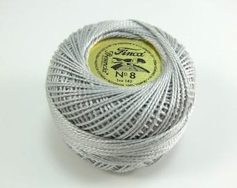 Finca Perle Cotton Thread Pearl Cotton - Light Shell Gray