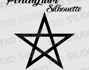Pentagram Silhouette Clip Art Image, Pentagram Clip Art, Pentagram Digital Clip Art, Pentagram Silhouette Image, Pentagram SVG, PNG etc...