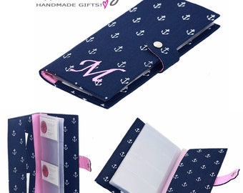 Personalized business card holder booklet custom made personalized business card holder business card organizer book custom made business card book holder colourmoves