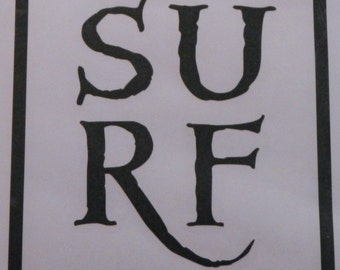 Surf Decal- SURF Inside The Box