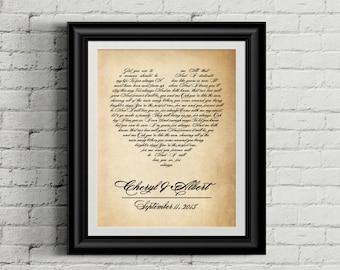Wedding song art, Wedding song lyrics, Wedding song gift, Wedding song print, Wedding song lyric art, Wedding song lyric, DIGITAL