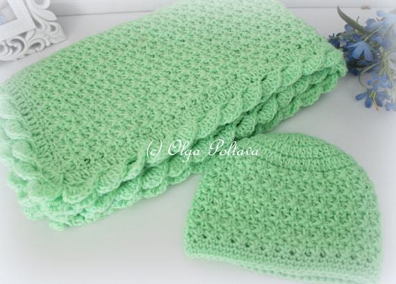 Crochet Baby Blanket And Hat Star Stitch Crochet Baby Set Crochet
