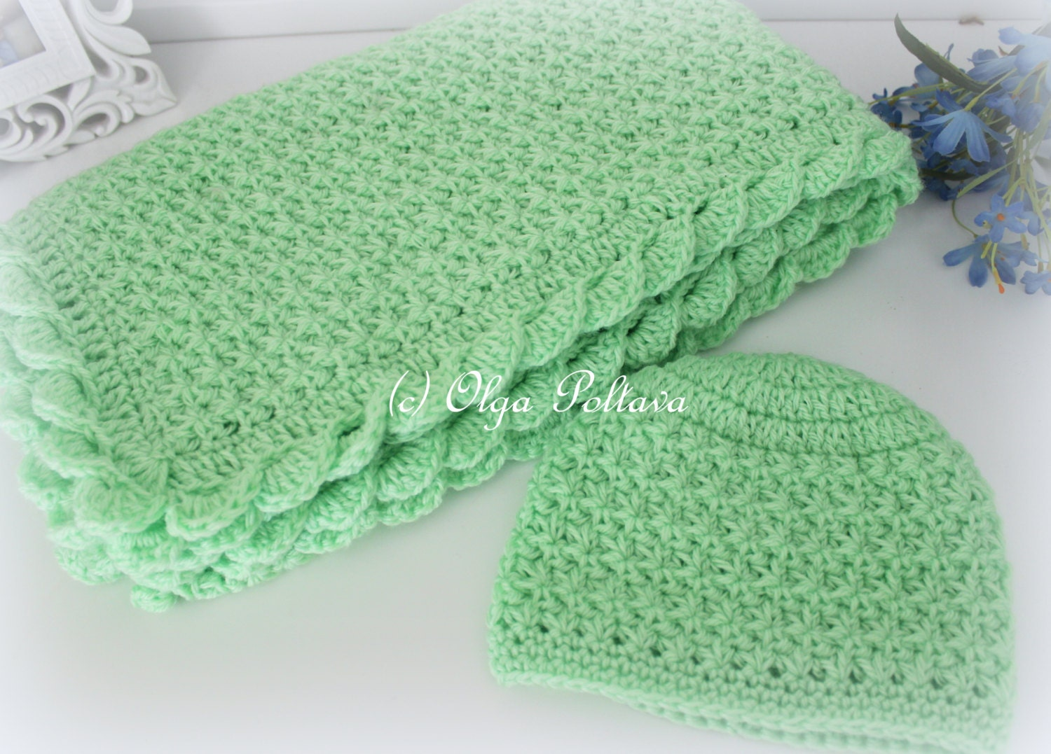 Crochet baby blanket and hat star stitch crochet baby set zoom dt1010fo