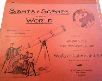 Sights and Scenes of the World A Series of Magnificent Photographic Views, #s 2 7 11 12 13 14 15 16 18 19 20, W.B. Conkey, c. 1893