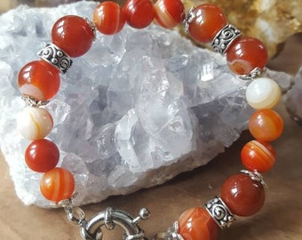 Carneool Edelsteen Armband, gemstone bracelet, uniek