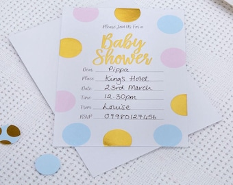 Pattern Works - Baby Shower Invitations with Envelopes Multi