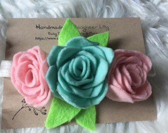 Felt Flower Crown Headband