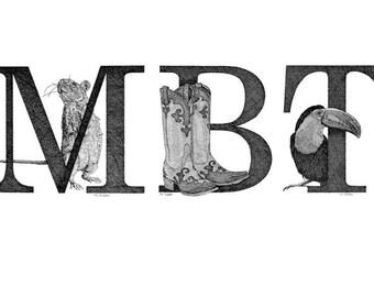 Illustrated Alphabet Monograms