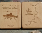AU SABLE River Map Fly Bo...