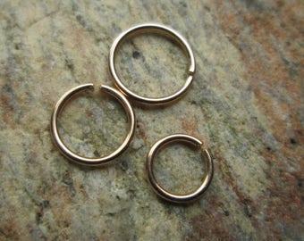 Rose Gold Cartilage Hoop 4mm 5mm 6mm, Rose Gold Tiny Hoop 6mm 5mm 4mm Helix, 22 Gauge Rose Gold Filled Cartilage Hoop Earring, Tiny Hex Hoop