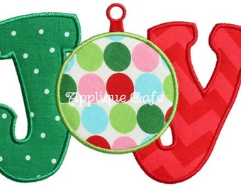 161 Joy Machine Embroidery Applique Design
