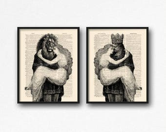 Prince Princes Print, Beauty Beast Art Set, Cool Sister Gift, Mystery Print Set, Beauty and the Beast, Funny Home Poster, Gift for Her S38