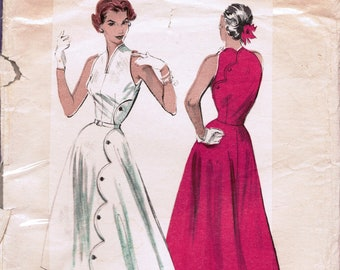 BUTTERICK 6541 sewing pattern  Size 16. Bust 34.  An original Butterick pattern from the 1950s.