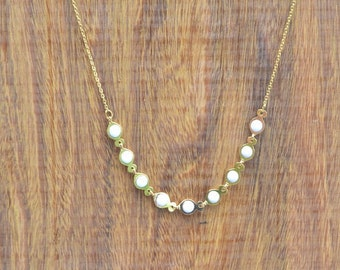 gold plated necklace chain white fish.