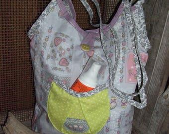 Tote bag printed Matriochkas pockets