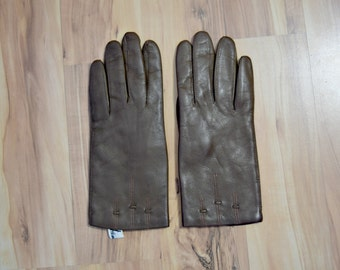 50's Atkins Brown Leather Driving Gloves