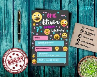 emoji,emoji invitations,emoji birthday invitation,emoji party,emoticon invitation, emot birthday,happy birthday, emoji birthday invitation
