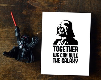 Darth Vader Card Together we can rule the galaxy - Star Wars Printable Fathers Day Card || INSTANT DOWNLOAD
