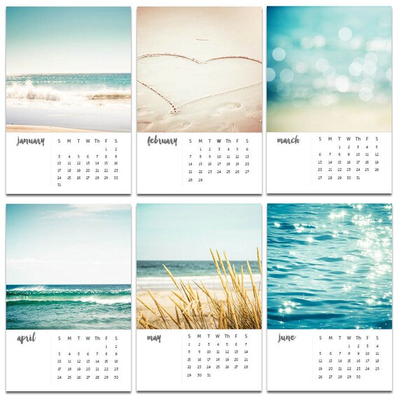 2018 Calendar Nautical Decor Beach Photography Calendar 2018