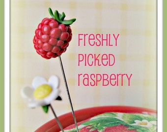 Freshly Picked Raspberry and Blossom Pin Topper Set