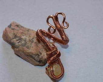 Copper Wire Wraparound Ring