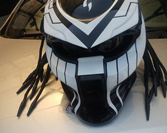 Predator Helmet Street Fighter Mask Version  DOT Approved