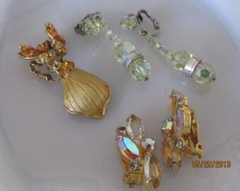 Trio of Vintage Earrings