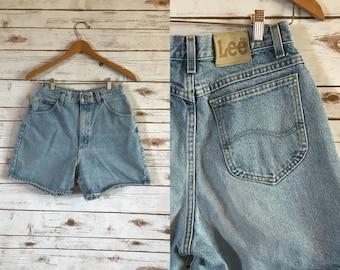 Vintage Lee Denim Shorts, Vintage High Waist Lee  Denim Jean Shorts Size 29
