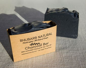 Charcoal Bar, activated charcoal, artisan soap, tea tree oil