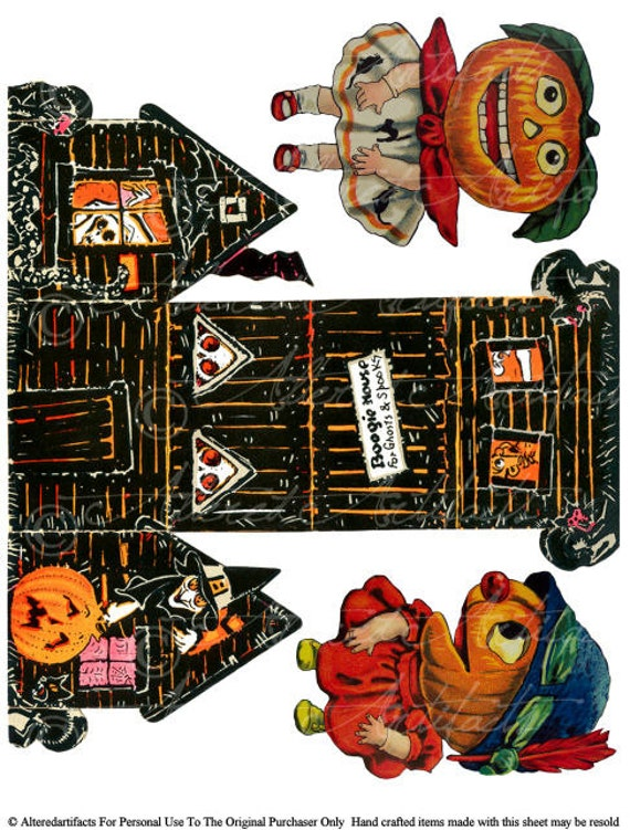 Printable Halloween Box Boogie House Gift