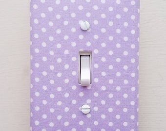Lavender Light Switch - Outlet Cover- Switch Plate Cover-Nursery Decor- Light switch cover- room decor-