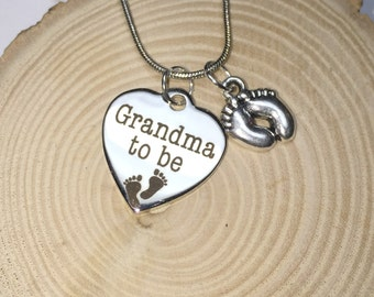 Necklace for Grandma to be, pregnancy announcement surprise gift for grandma baby on the way announcement expecting promoted to grandma