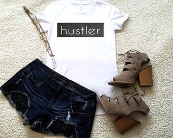 Hustler graphic t-shirt available in size s, med, large, and Xl for women funny graphic shirt instagram tumblr gift
