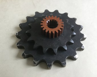 Vintage iron cogs gears lot