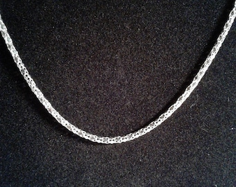 22 inches silver plated chain set of 4 (2)