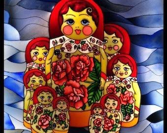"Light box ""Russian doll"""