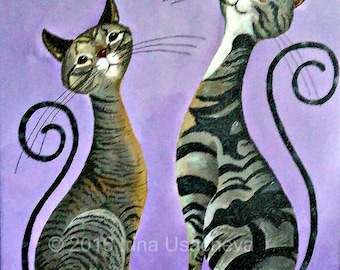 Custom Made Cats portraits in the Fantasy Cats™ Style