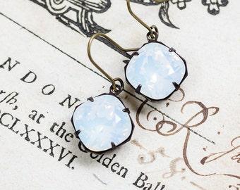 Moonstone Crystal Antique Style Jewelry, Vintage Style Jewelry, Swarovski Crystal, Retro Jewelry, Sparkly Earrings, Dangle Earrings