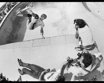 Lance Mountain Upland 1985 Skateboarding Photo - J Grant Brittain 80s Skateboard Photo 18 x 24 Inch Photo Print
