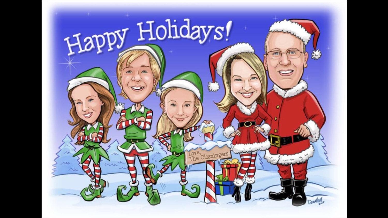 Custom christmas holiday seasons greetings card zoom kristyandbryce Images